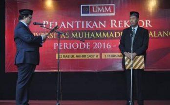 Pimpin UMM, Rektor Fauzan Siap Wujudkan Kampus Unggulan Internasional